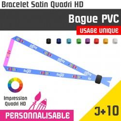 <h1>Bracelet tissu satin avec marquage - Bague PVC couleur - Usage Unique - délai J+10</h1> <p>Bracelet tissus Satiné avec bague de serrage en PVC à usage unique. Bracelet satin personnalisé avec marquage.Bracelet VIP d'accès à un évènement. Bracelet évènementiel avec marquage en cadeau publicitaire.</p>