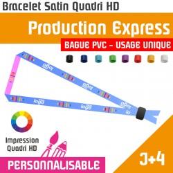 <h1>Bracelet tissu satin avec marquage - Bague PVC couleur - Usage Unique - délai J+4</h1> <p>Bracelet tissu Satin avec une bague de serrage en PVC à usage unique. Braceletpersonnalisé avec impression.Bracelet satin VIP d'accès à un évènement. Bracelet évènementiel avec marquage imprimé en quadri.</p>