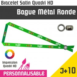 Bracelet Satin Bague Metal Ronde J+10