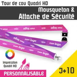 Tour de Cou Mousqueton J+10 Attache de sécurité