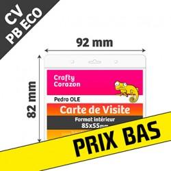 PBECO CV - Porte Badge Eco - Horizontal - Format Carte de Visite - Transparent