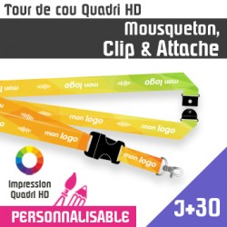 Tour de Cou Mousqueton J+30 Clip et Attache