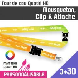Tour de Cou Mousqueton J+30 Clip et Attache