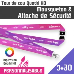 Tour de Cou Mousqueton J+30 Attache de sécurité