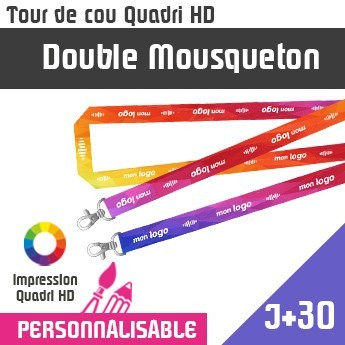 Tour de Cou Double Mousqueton J+30