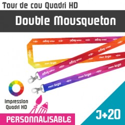 Tour de Cou Double Mousqueton J+20