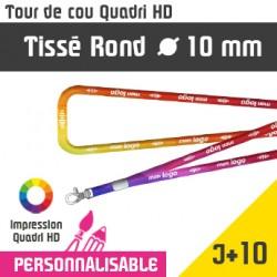 Tour de Cou Tissé Rond Mousqueton J+10
