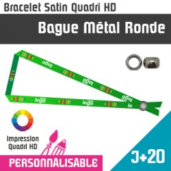 Bracelet Satin Bague Metal Ronde J+20