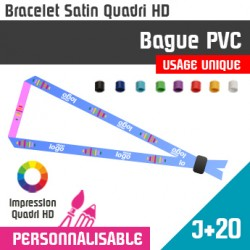 Bracelet Satin Bague PVC J+20