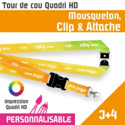 Tour de Cou Mousqueton J+4 Clip et Attache
