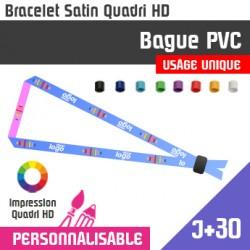 Bracelet Satin Bague PVC J+30