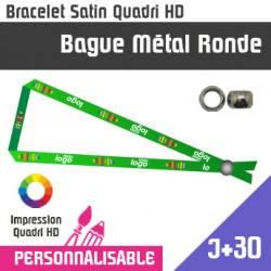Bracelet Satin Bague Metal Ronde J+30