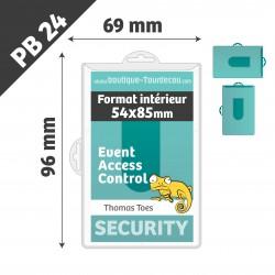 PB24 - Porte Badge Rigide - 66x98mm - Transparent