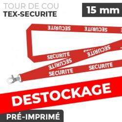 Tour de Cou Rouge - TEX-SECURITÉ - lot de 10