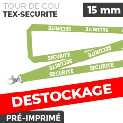 Tour de Cou Vert - TEX-SECURITÉ - lot de 10