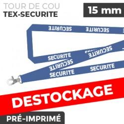 Tour de Cou Bleu - TEX-SECURITÉ - lot de 10