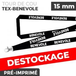 Tour de Cou Noir - TEX-BENEVOLE- lot de 10
