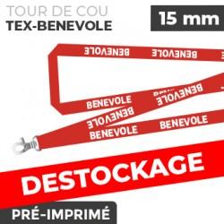 Tour de Cou Rouge - TEX-BENEVOLE- lot de 10