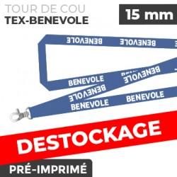 Tour de Cou Bleu - TEX-BENEVOLE - lot de 10