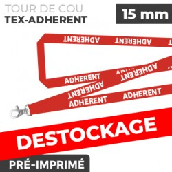 Tour de Cou Rouge - TEX-ADHERENT- lot de 10