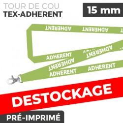Tour de Cou Vert - TEX-ADHERENT- lot de 10