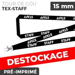 Tour de Cou Noir - TEX-STAFF- lot de 10