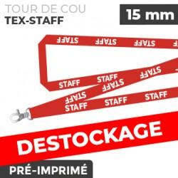 Tour de Cou Rouge - TEX-STAFF- lot de 10