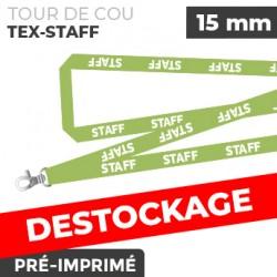 Tour de Cou Vert - TEX-STAFF- lot de 10