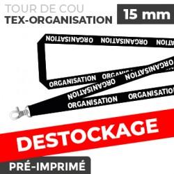 Tour de Cou Noir - TEX-ORGANISATION- lot de 10