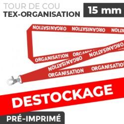 Tour de Cou Rouge - TEX-ORGANISATION- lot de 10