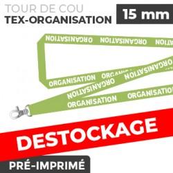 Tour de Cou Vert - TEX-ORGANISATION- lot de 10
