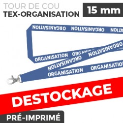 Tour de Cou Bleu - TEX-ORGANISATION- lot de 10