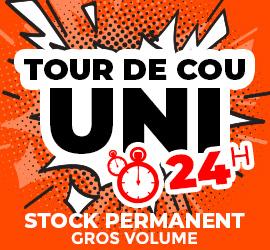 Tour de cou uni délai 24h