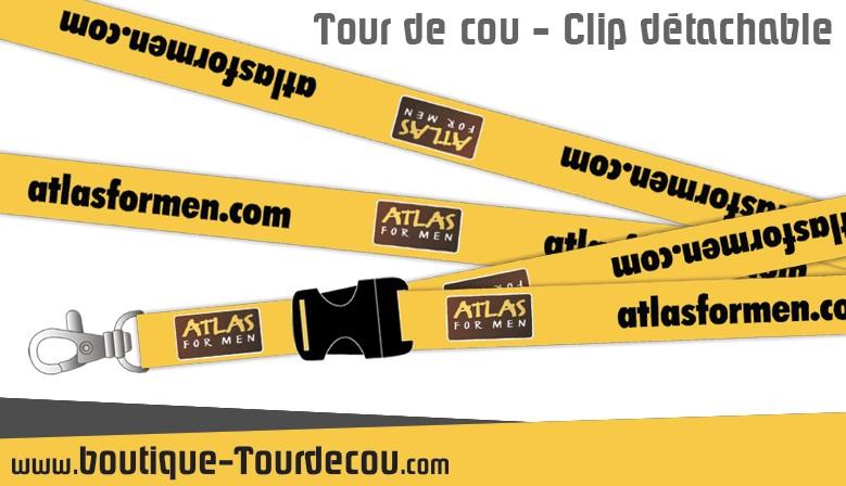Atlas For Men Tour de cou avec clip détachable