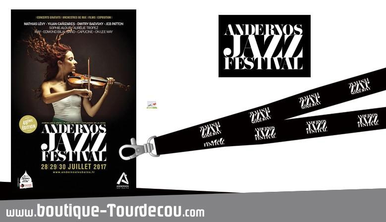 Tour de cou pour le Festival Jazz d'Andernos