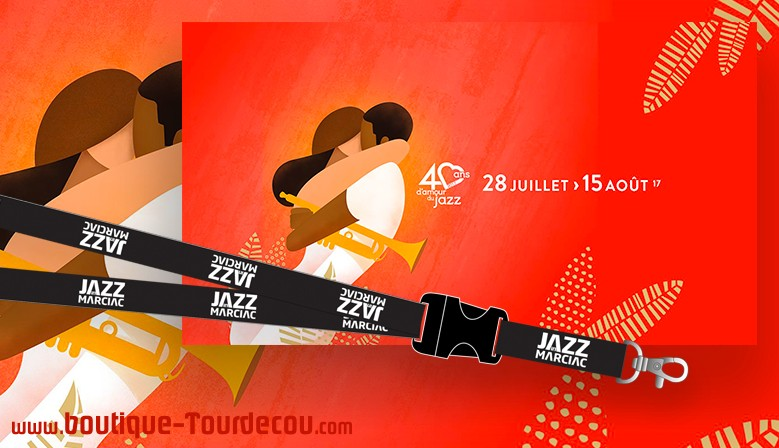 Cordon, Porte-Badge pour le Festival JAZZ IN MARCIAC 2017